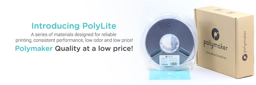 Introducing Polymakers PolyLite series of materials (ABS and PLA In Stock Now)