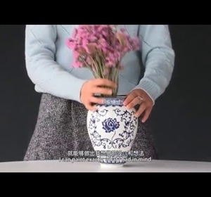 Qing Dynasty Vase Painting on Polyshed PolySmooth Vase